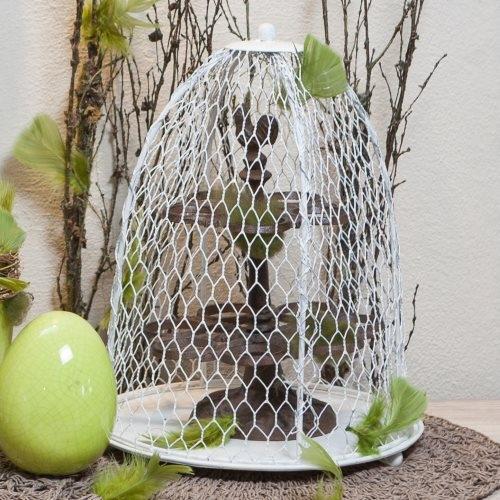 Tava cu cupola din metal alb 25x34 cm chicville 2021