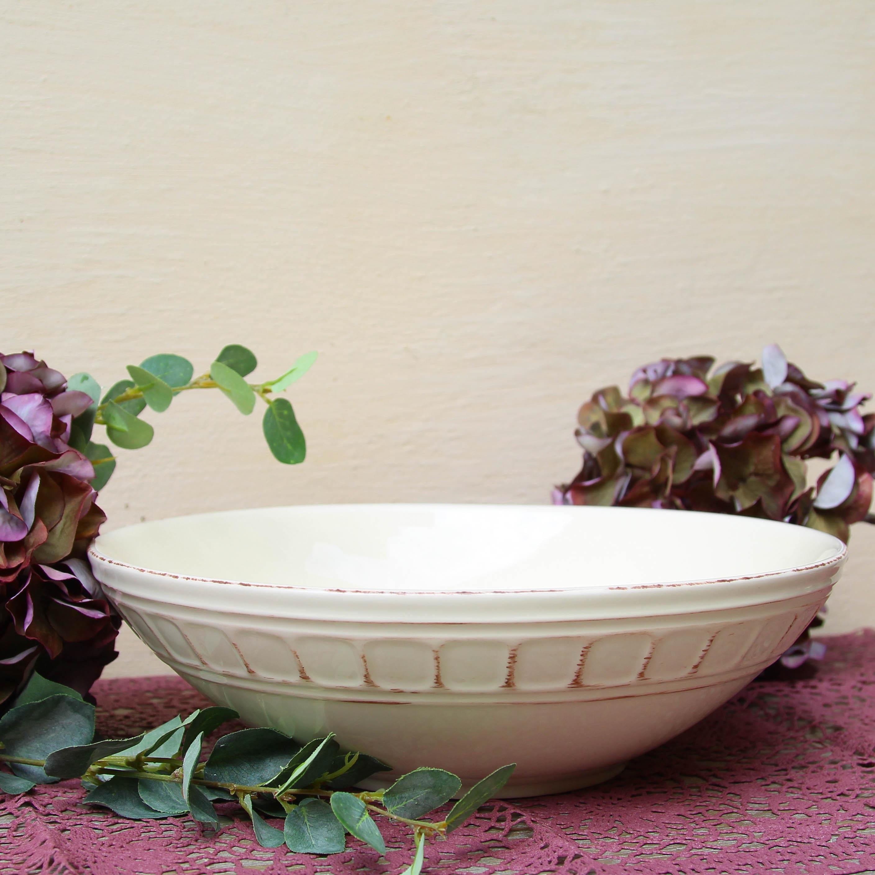 Bol Venezia Ivory din ceramica 30 cm chicville 2021