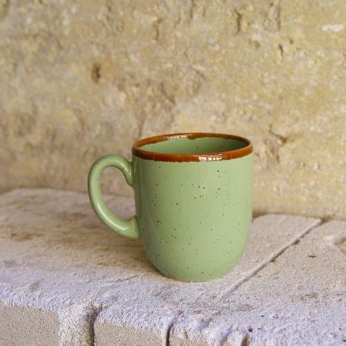Cana Gardena din ceramica verde 9 cm chicville 2021