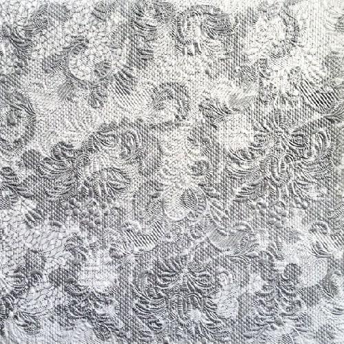 Servetele Lace Silver 33x33 cm chicville 2021