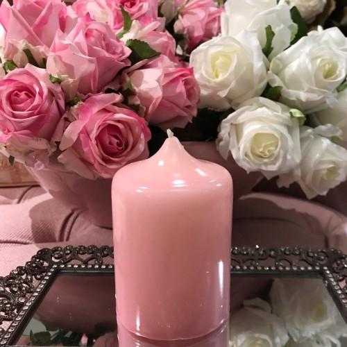 Lumanare Delicate din ceara roz 12 cm chicville 2021