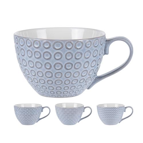 Cana Boho din ceramica gri 8 cm - modele diverse chicville 2021