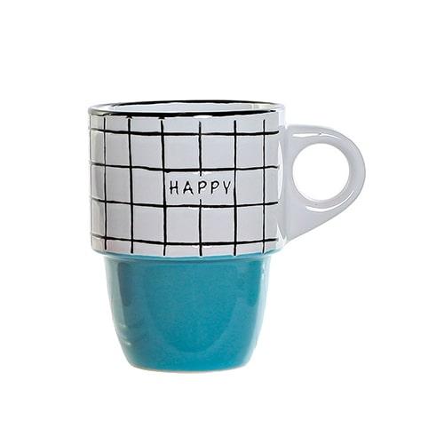 Cana Colors Happy din ceramica albastra 12 cm chicville 2021