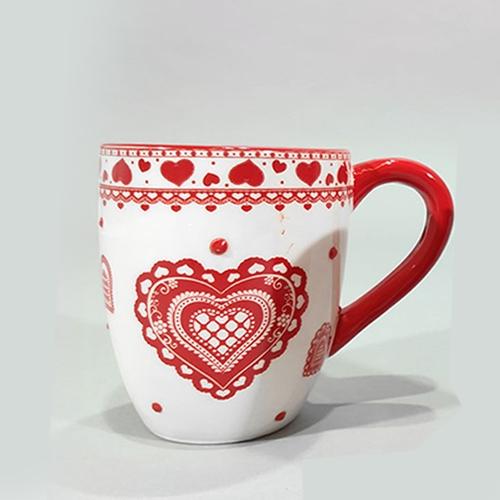 Cana Heart din ceramica alba 10 cm chicville 2021