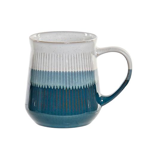 Cana Lines din ceramica alba cu albastru 12 cm chicville 2021