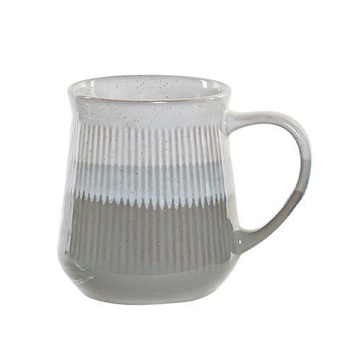 Cana Lines din ceramica alba cu gri 12 cm chicville 2021