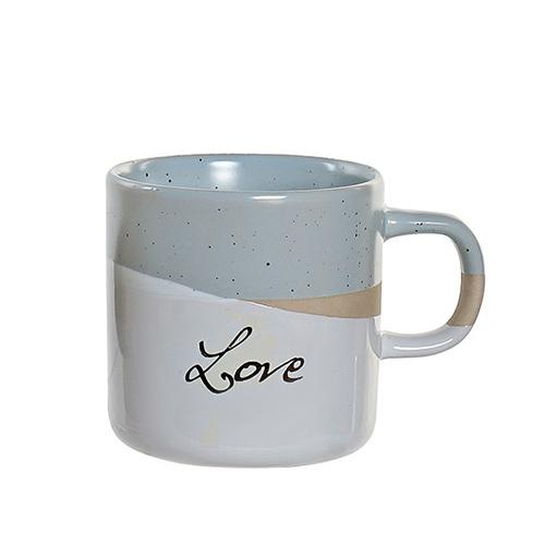 Cana Love din ceramica gri 9 cm chicville 2021