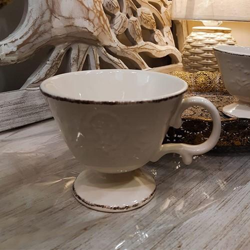 Cana Royal din ceramica crem 11 cm chicville 2021