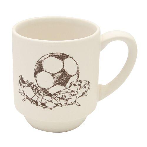 Cana Hobby Chic fotbal din ceramica alba 8 cm chicville 2021