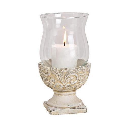 Candela Floral din sticla 13x23 cm chicville 2021