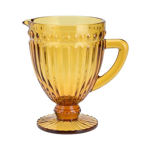 Carafa Cristal din sticla portocalie 1l chicville 2021
