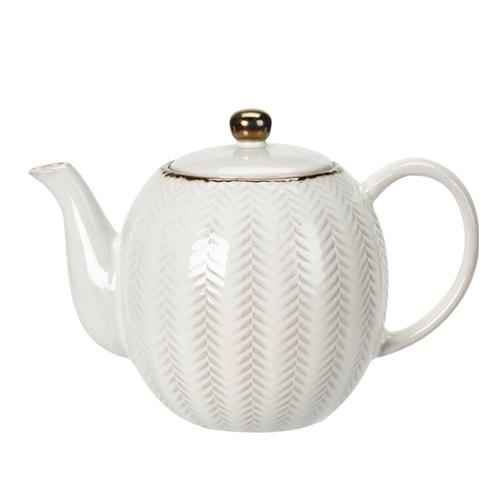Ceainic Boho din ceramica alba 16 cm - modele diverse chicville 2021