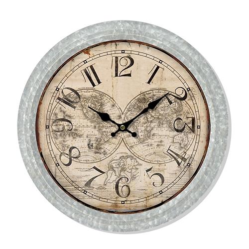 Ceas de perete Map din metal 37 cm chicville 2021