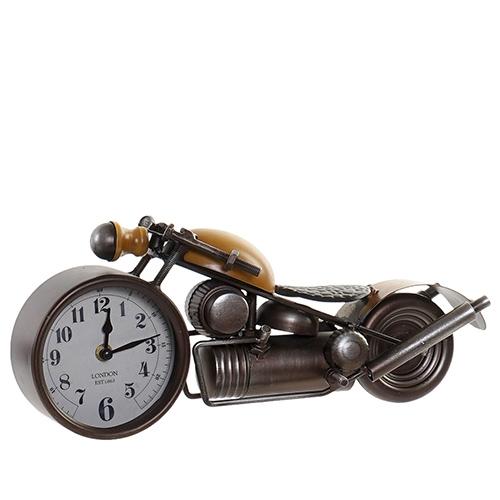 Ceas Motorcycle din metal maro cu galben 39x12x16.5 cm chicville 2021