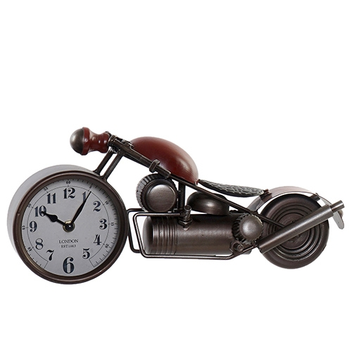 Ceas Motorcycle din metal maro cu rosu 39x12x16.5 cm chicville 2021