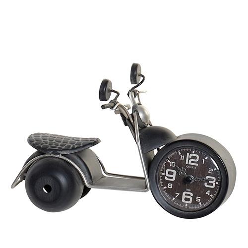 Ceas Motorcycle din metal negru si sticla 24x13 cm - modele diverse chicville 2021