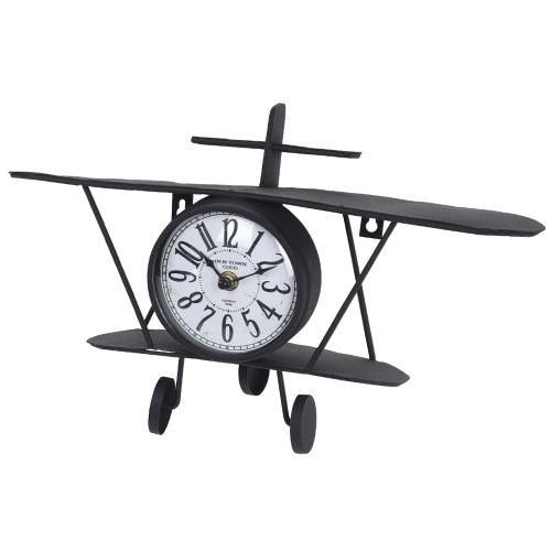 Ceas Plane din metal negru 37x10x20 cm chicville 2021