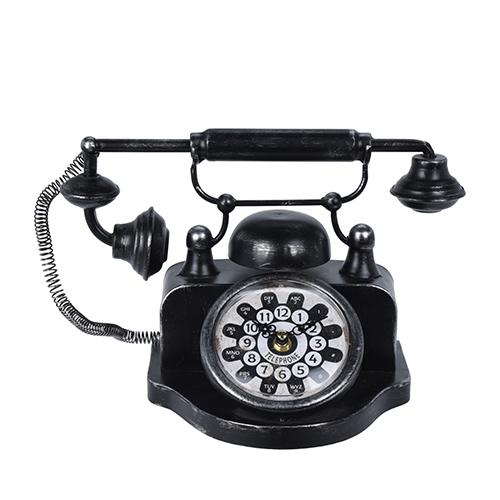 Ceas Vintage Phone din metal 31x17x20cm chicville 2021