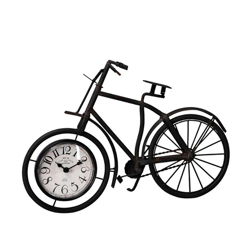 Ceas Bike din metal maro inchis 38.5x25 cm chicville 2021
