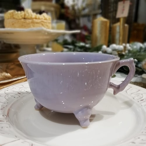 Ceasca Vintage din ceramica mov 11 cm chicville 2021