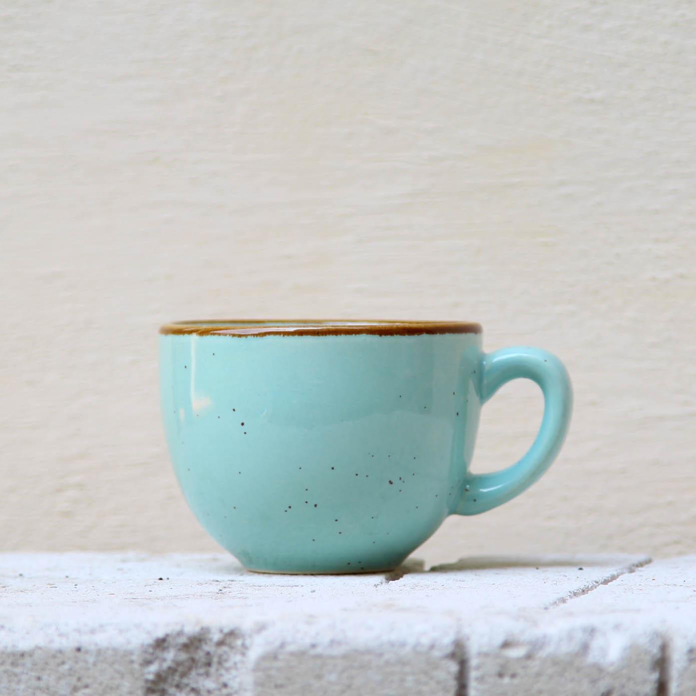 Ceasca Gardena din ceramica turcoaz 7 cm chicville 2021