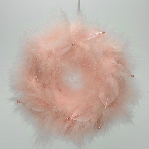 Coronita cu pene roz 20 cm chicville 2021