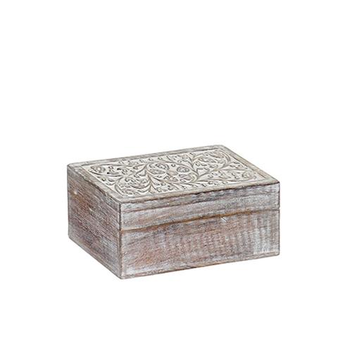 Cutie Delicate din lemn de mango 20x10 cm chicville 2021