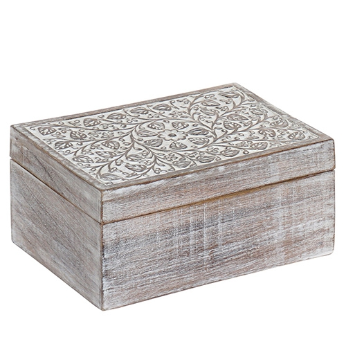 Cutie Delicate din lemn de mango 30x20 cm chicville 2021