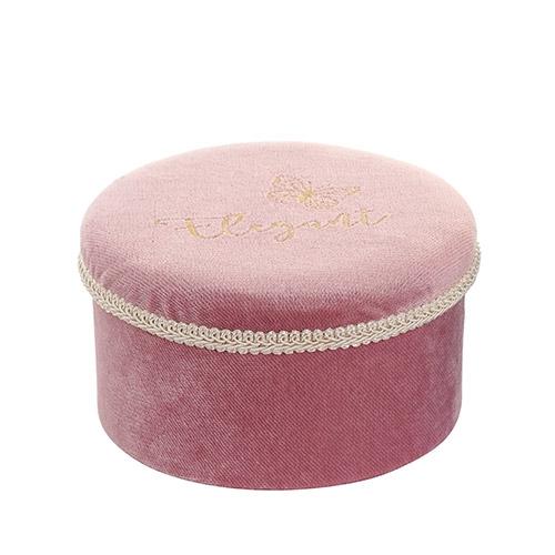 Cutie Elegant din catifea roz 16x9 cm chicville 2021
