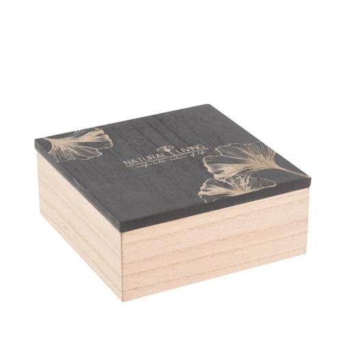 Cutie Natural din lemn 15x15 cm chicville 2021