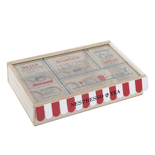 Cutie pentru ceai Bistro din lemn 30x6 cm chicville 2021