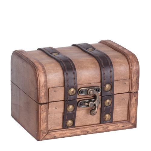 Cutie Treasure din lemn maro 9x12x8.7 cm - modele diverse chicville 2021