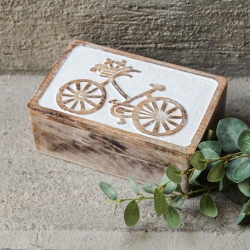 Cutie Bicycle din lemn 20x13 cm chicville 2021