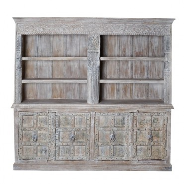 Biblioteca Vintage din lemn de mango 225x46x218 cm