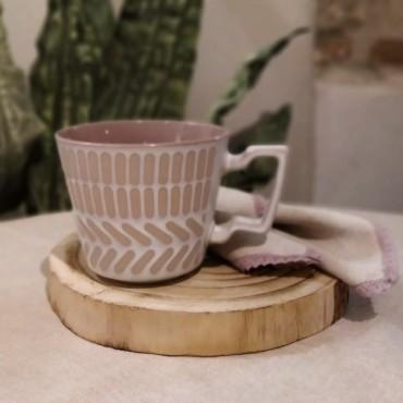 Cana Boho din ceramica maro 9 cm