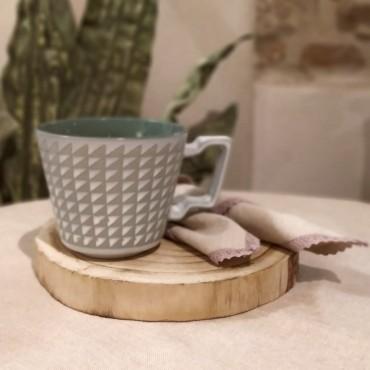 Cana Boho din ceramica verde 9 cm
