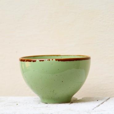 Bol Gardena din ceramica verde 13 cm