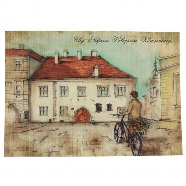 Carte postala din carton cu Casa Matei Corvin