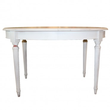 Masa extensibila Fida din lemn alb antichizat 130x95x80 cm