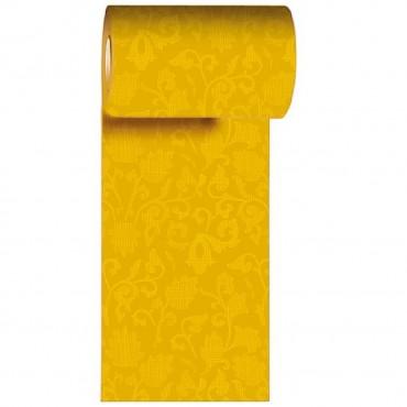 Napron in rola din hartie galbena cu flori 200x15 cm