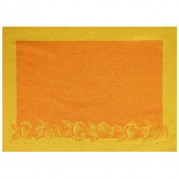 Napron din bumbac portocaliu 50x35 cm
