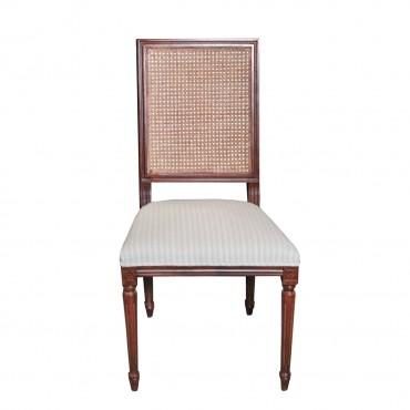 Scaun Ludovic din lemn maro roscat si tapiterie la alegere 51x46x100 cm