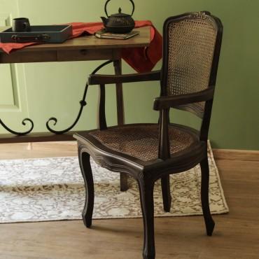 Scaun Artezio din lemn maro inchis 58.5x48x96 cm