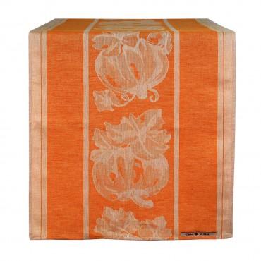 Runner din bumbac portocaliu 150x50 cm