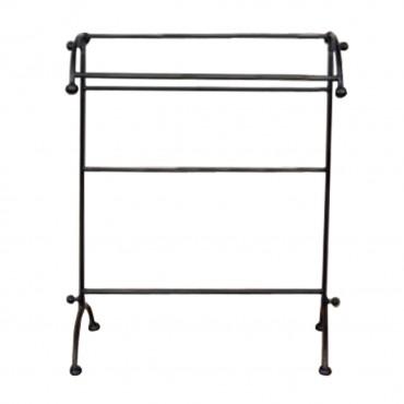 Suport pentru prosoape din metal negru 103x74x76 cm
