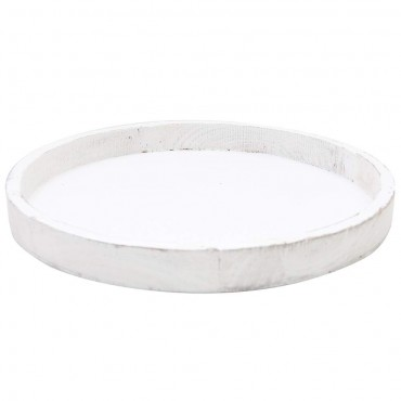 Tava rotunda Italica din lemn alb 30 cm