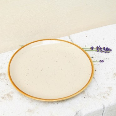 Farfurie de desert Gardena din ceramica crem 20 cm