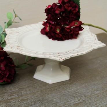 Suport pentru tort Venezia Ivory din ceramica 35.5x12 cm