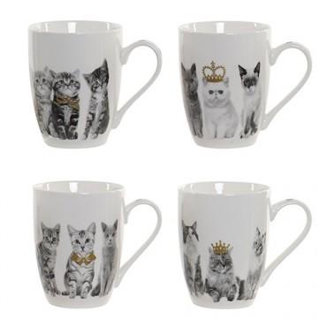 Cana Cats din portelan 10 cm - 4 modele disponibile