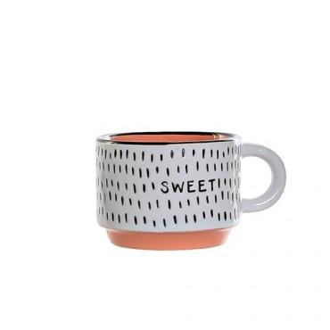 Cana Colors Sweet din ceramica portocalie 6 cm
